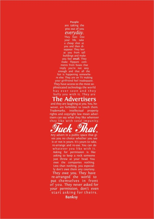 bansky coca cola bottle